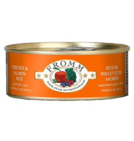 Fromm Fromm Four Star Canned Cat Food CASE Chicken & Salmon Pate 5.5 oz