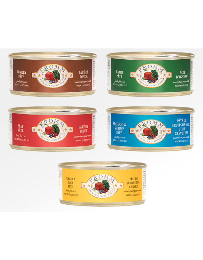 Fromm Fromm Four Star Canned Cat Food CASE Turkey Pate 5.5 oz