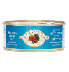 Fromm Fromm Four Star Canned Cat Food CASE Seafood & Shrimp Pate 5.5 oz