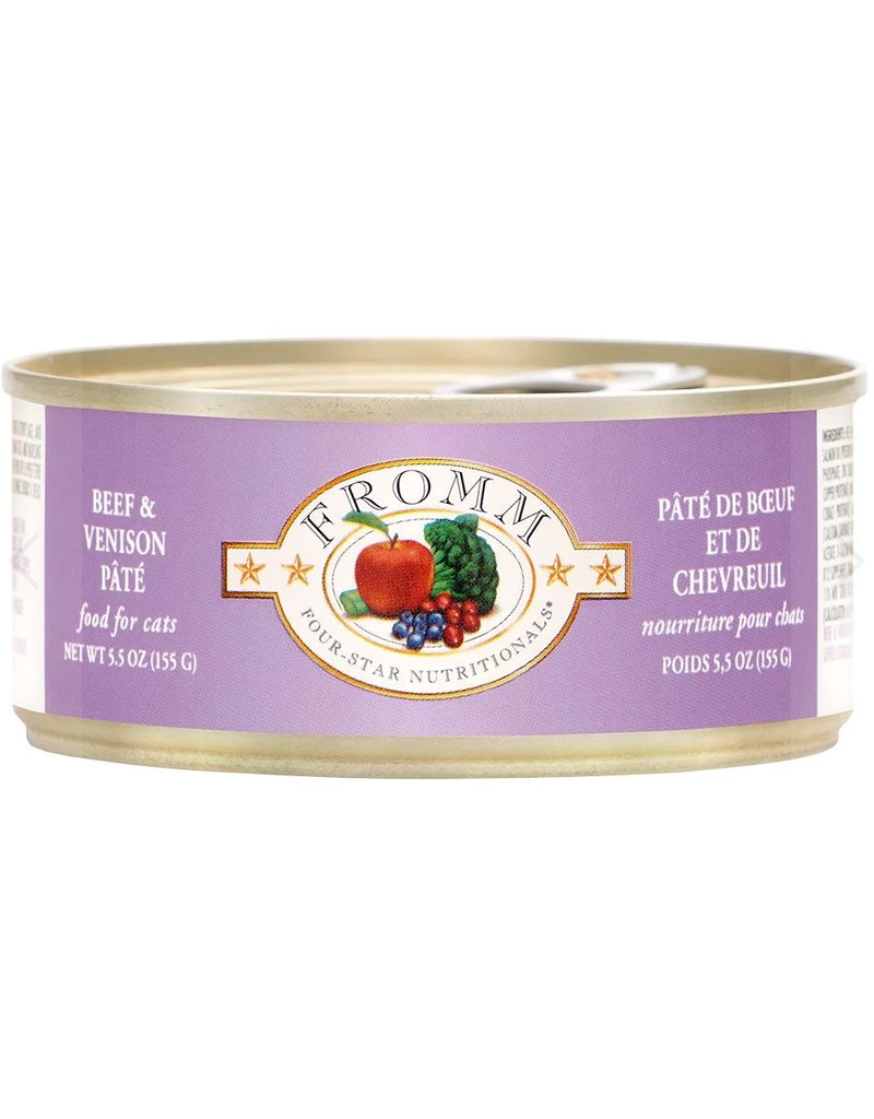 Fromm Fromm Four Star Canned Cat Food CASE Beef & Venison Pate 5.5 oz