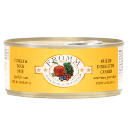 Fromm Fromm Four Star Canned Cat Food CASE Turkey & Duck Pate 5.5 oz