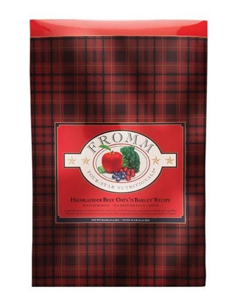 Fromm Fromm Four Star Dog Kibble Highlander Beef, Oats 'n Barley 30 lb