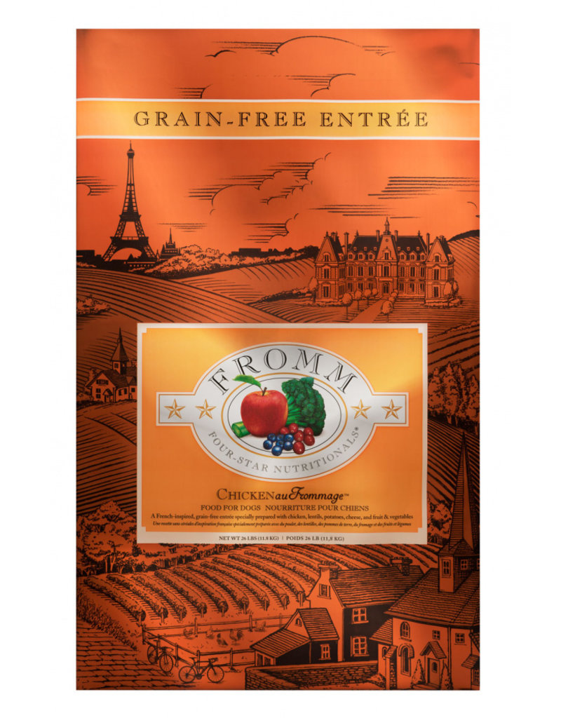 Fromm Fromm Four Star Grain Free Dog Kibble Chicken Au Frommage 26 lb