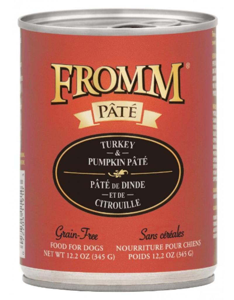 Fromm Fromm Gold Canned Dog Food CASE Turkey & Pumpkin Pate 12.2 oz