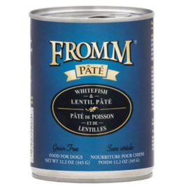 Fromm Fromm Gold Canned Dog Food   Whitefish & Lentil Pate 12.2 oz CASE