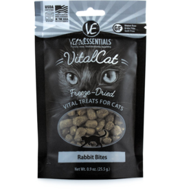 Vital Essentials Vital Essentials Freeze Dried Cat Treats Rabbit Bites 0.9 oz