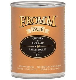 Fromm Fromm Gold Canned Dog Food CASE Chicken & Rice Pate 12.2 oz