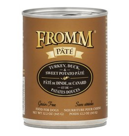 Fromm Fromm Gold Canned Dog Food   Turkey Duck & Sweet Potato Pate 12.2 oz CASE