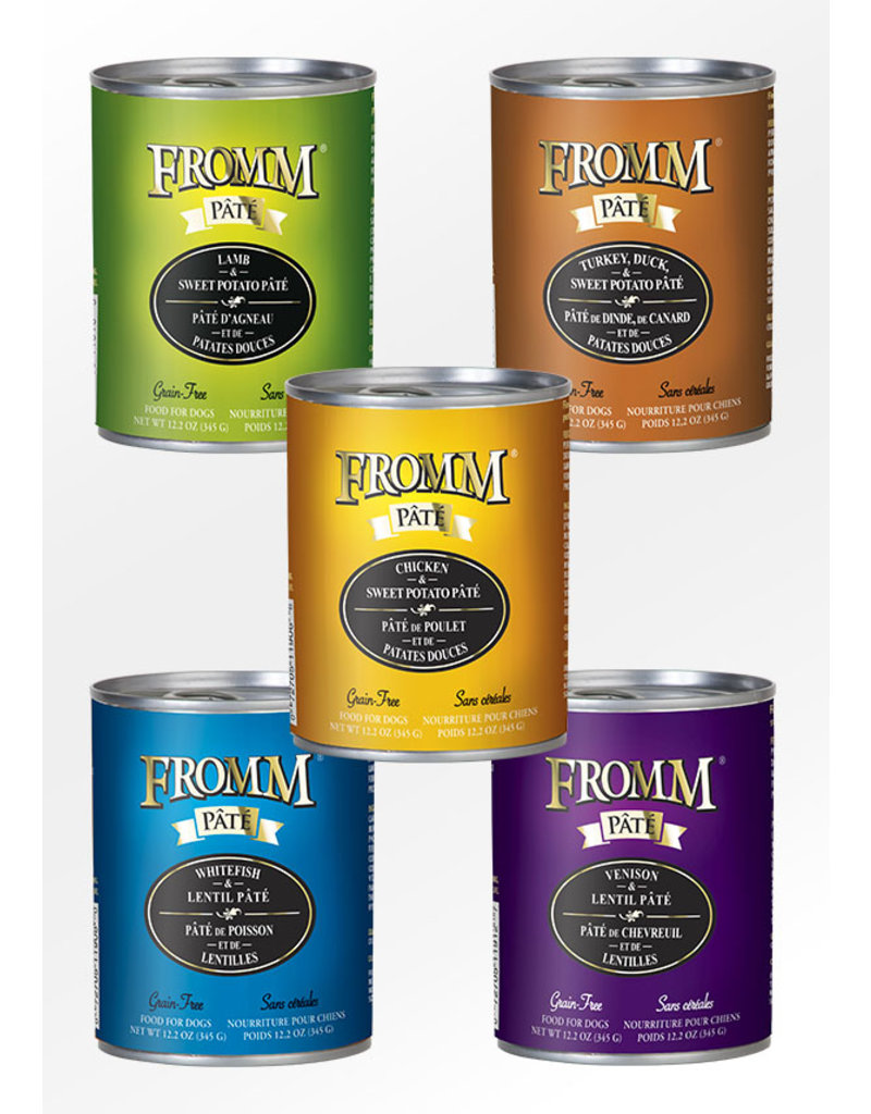 Fromm Fromm Gold Canned Dog Food CASE Beef & Sweet Potato Pate 12.2 oz
