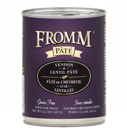 Fromm Fromm Gold Canned Dog Food CASE Venison & Lentil Pate 12.2 oz