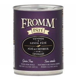Fromm Fromm Gold Canned Dog Food   Venison & Lentil Pate 12.2 oz CASE