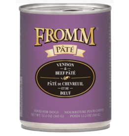 Fromm Fromm Gold Canned Dog Food CASE Venison & Beef Pate 12.2 oz