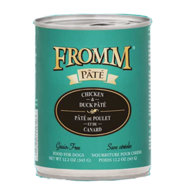Fromm Fromm Gold Canned Dog Food   Chicken & Duck Pate 12.2 oz CASE