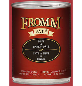 Fromm Fromm Gold Canned Dog Food CASE Beef & Barley Pate 12.2 oz