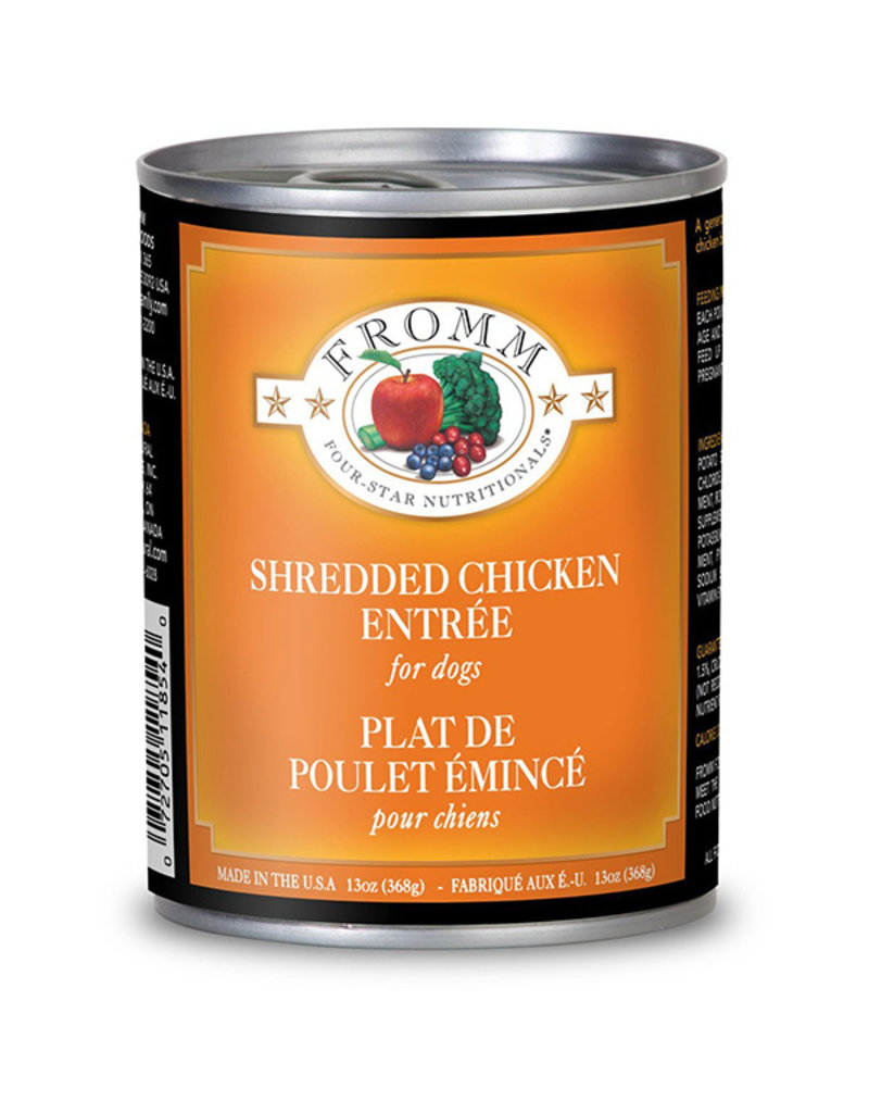 Fromm Fromm Four Star Canned Dog Food Shredded Chicken 12 oz  single