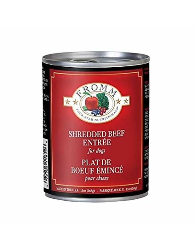 Fromm Fromm Four Star Canned Dog Food CASE Shredded Beef 12 oz