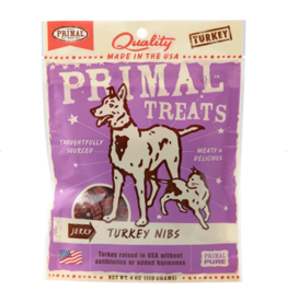 Primal Primal Jerky Dog Treats Turkey Nibs 4 oz