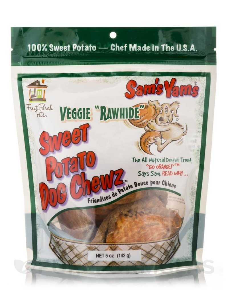 Front Porch Pets Sam's Yams Sweet Potato Chews 5 oz