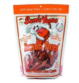 Front Porch Pets Sam's Yams Sweet Potato Chews Bichon Fries 9 oz