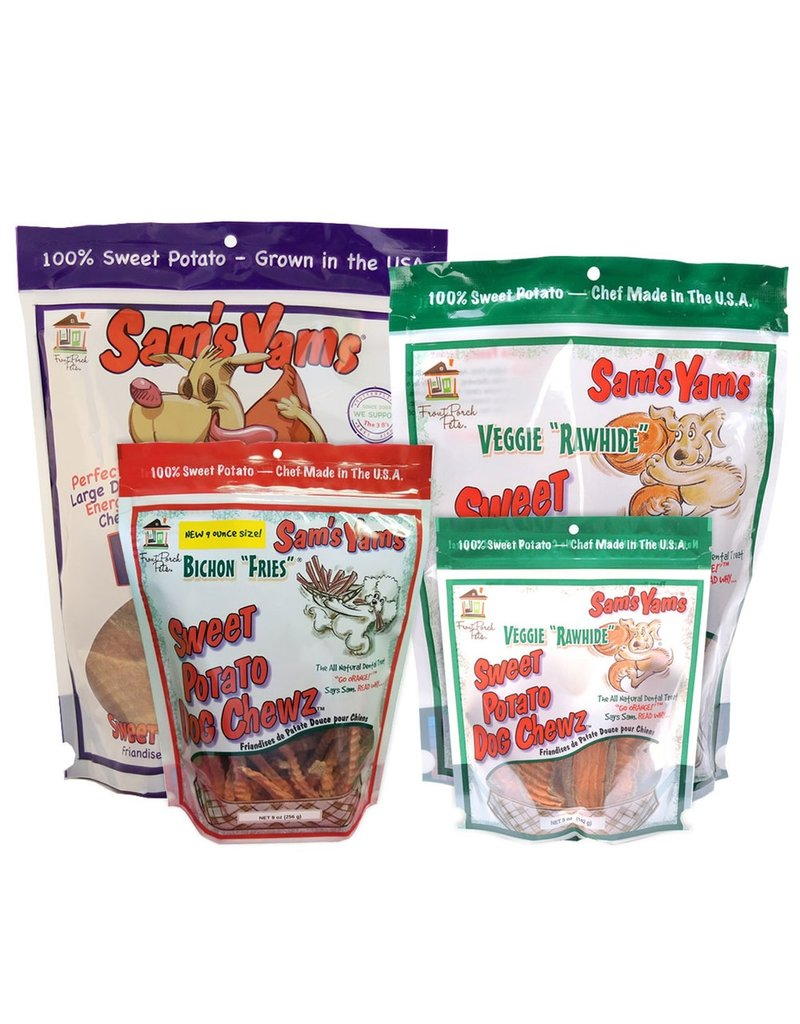 Front Porch Pets Sam's Yams Sweet Potato Chews Bichon Fries 9 oz