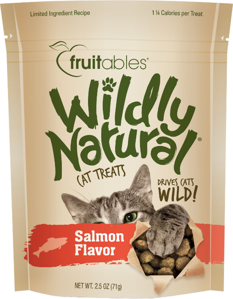 Fruitables Fruitables Wildly Natural Cat Treats Wild Caught Salmon Flavor 2.5 oz