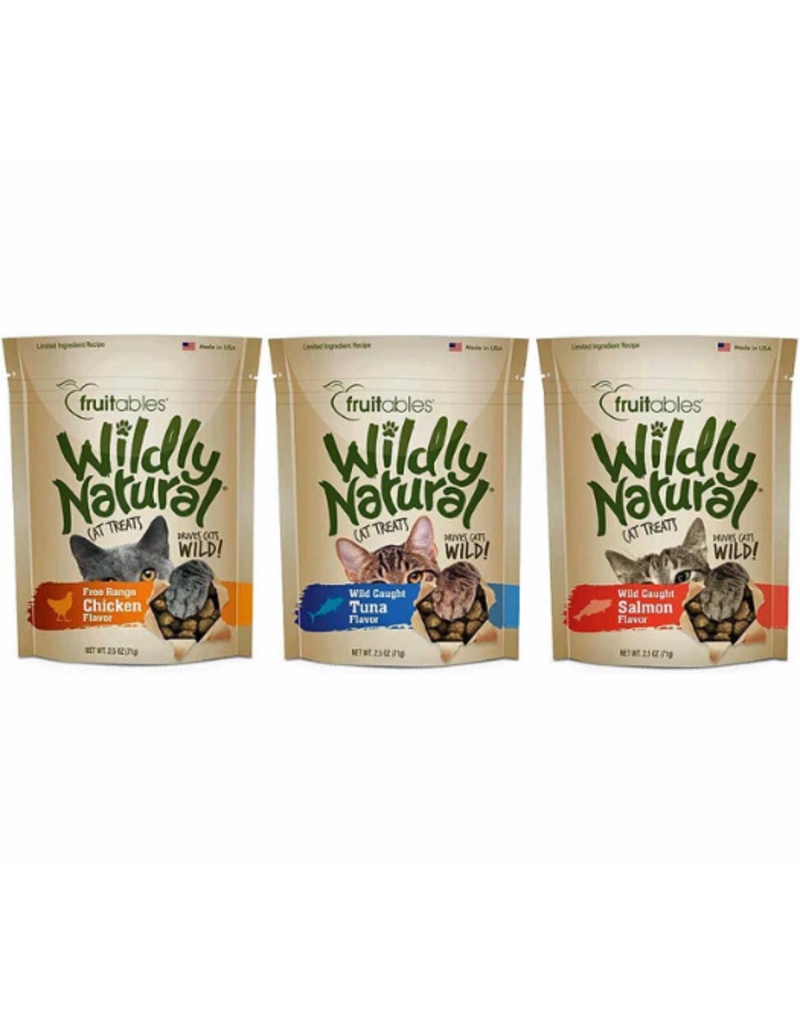 Fruitables Fruitables Wildly Natural Cat Treats Wild Caught Tuna Flavor 2.5 oz