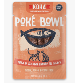 Koha Koha Cat Poke Bowl Tuna & Salmon Pouch 3 oz single