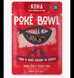 Koha Koha Cat Poke Bowl Tuna & Beef Pouch 3 oz  single