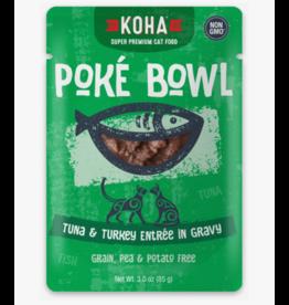 Koha Koha Cat Poke Bowl Tuna & Turkey Pouch 3 oz CASE
