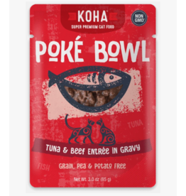 Koha Koha Cat Poke Bowl Tuna & Beef Pouch 3 oz CASE