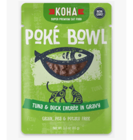 Koha Koha Cat Poke Bowl Tuna & Duck Pouch 3 oz CASE