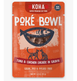 Koha Koha Cat Poke Bowl Tuna & Chicken Pouch 3 oz CASE