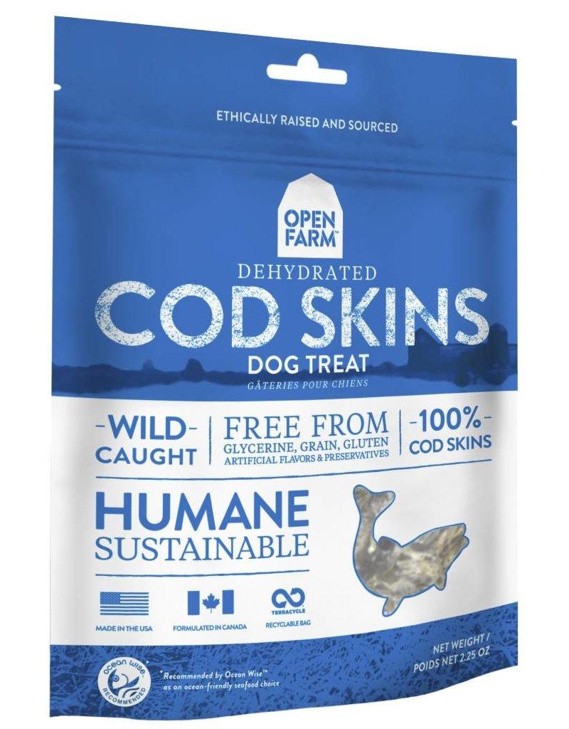 Open Farm Open Farm Dehydrated Dog Treats Cod Skins 4.5 oz