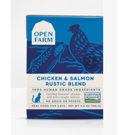 Open Farm Open Farm Cat Rustic Blend Chicken & Salmon 5.5 oz CASE