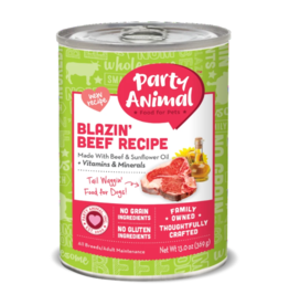 Party Animal Organic Dog Can Blazin' Beef 13 oz single