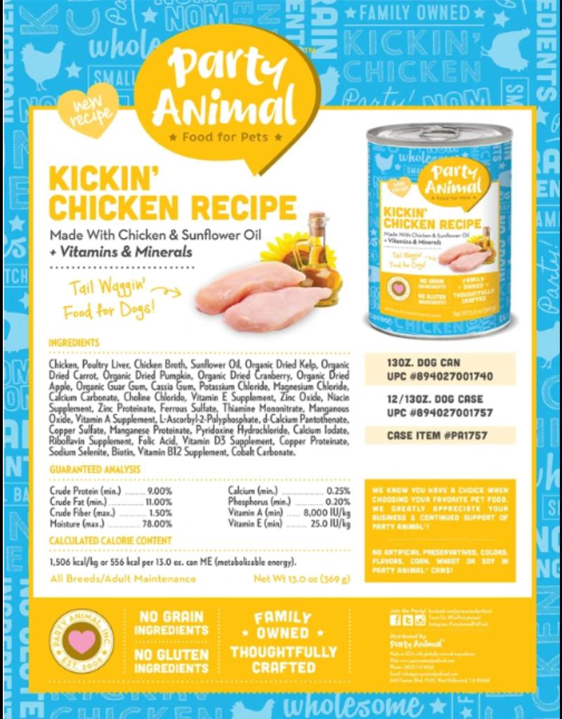 Party Animal Party Animal Organic Dog Can Kickin' Chicken 13 oz single