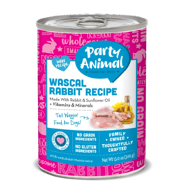 Party Animal Organic Dog Can Wascal Rabbit 13 oz CASE