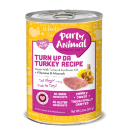 Party Animal Organic Dog Can Turn Up Da Turkey 13 oz CASE