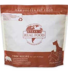 Steve's Real Food Steve's Real Food Frozen Dog & Cat Nuggets Pork 5 lbs (*Frozen Products for Local Delivery or In-Store Pickup Only. *)