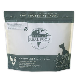 Steve's Real Food Steve's Real Food Frozen Dog & Cat Nuggets Turducken 5 lbs (*Frozen Products for Local Delivery or In-Store Pickup Only. *)