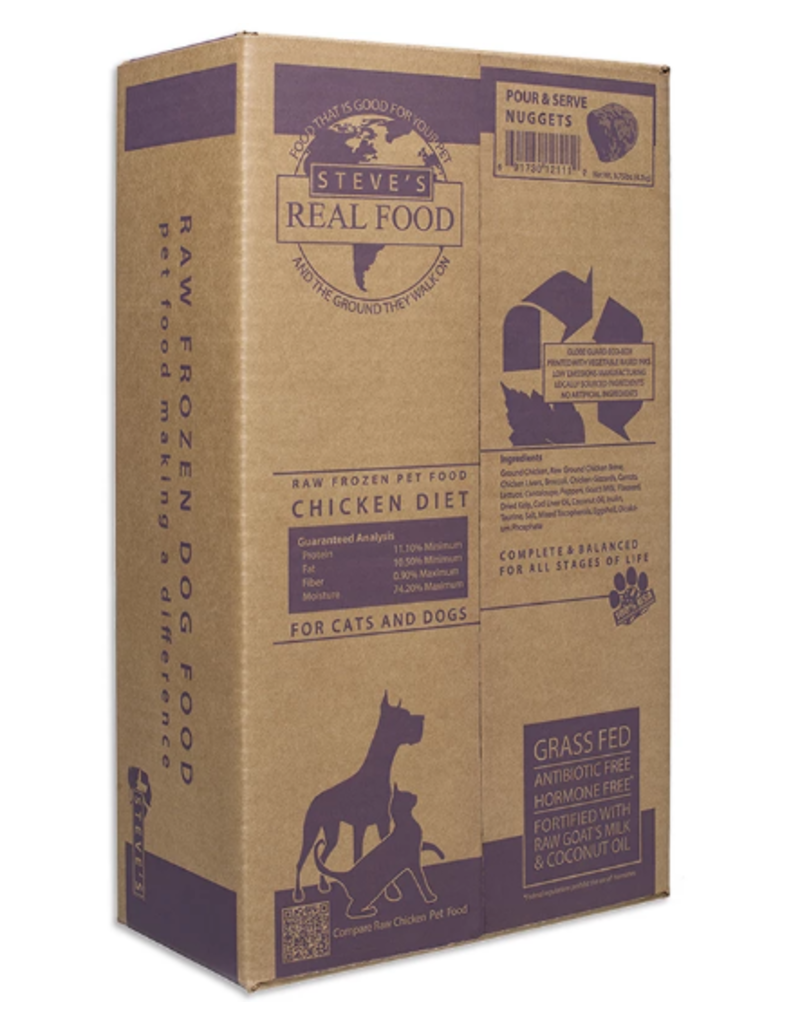 Steve's Real Food Steve's Real Food Frozen Dog & Cat Patties Chicken 20 lbs (*Frozen Products for Local Delivery or In-Store Pickup Only. *)