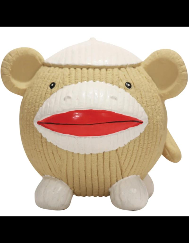 HuggleHounds HuggleHounds Ruff-Tex Sock Monkey Ball Large