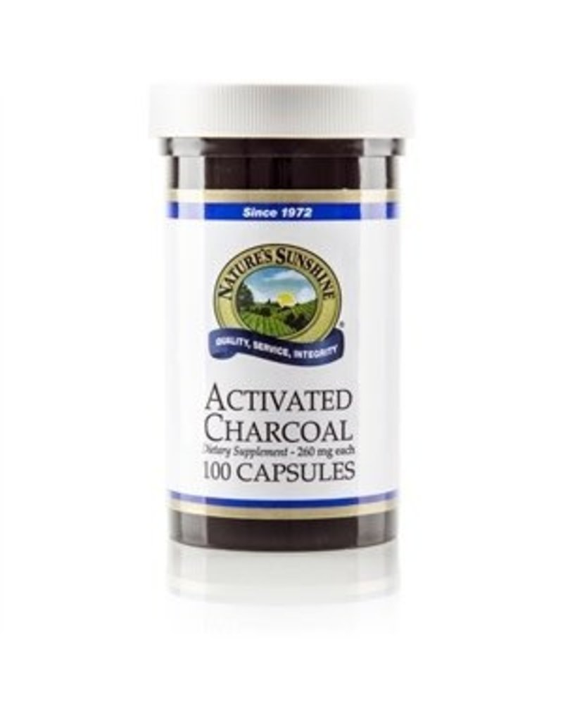 Nature's Sunshine Supplements Activated Charcoal 100 capsules
