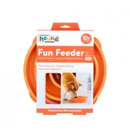 Outward Hound Outward Hound Fun Feeder Mini Swirl Orange
