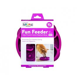 Outward Hound Outward Hound Fun Feeder Mini Swirl Purple