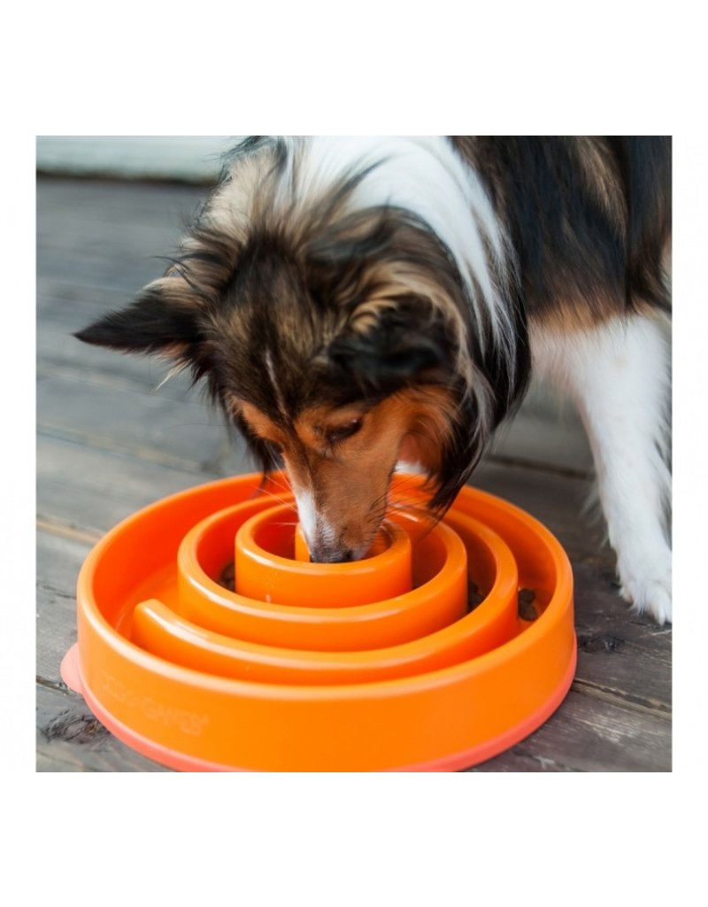 Outward Hound Outward Hound Fun Feeder Large Swirl Orange