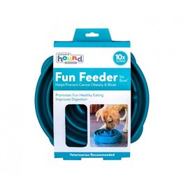 Outward Hound Outward Hound Fun Feeder Large Swirl Teal