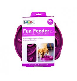Outward Hound Outward Hound Fun Feeder Large Swirl Purple