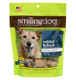 Herbsmith Herbsmith Smiling Dog Freeze Dried Treats Rabbit & Duck w/ Broccoli and Cranberry 2.5 oz