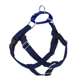 "2 hounds Design 2 Hounds Design Freedom No-Pull 1"" Harness Navy Blue Large"
